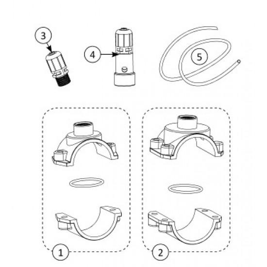 Crépine d'aspiration pour pompe péristaltique pH minus ou chlore liquide Stérilor