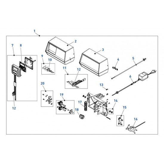 Vis x 2 (engrenage / roue) pour vanne Fleck 9000/9100/9500