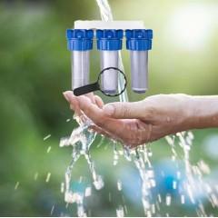 Porte filtre triplex eaux de pluie et de puisage Avec cartouche (9