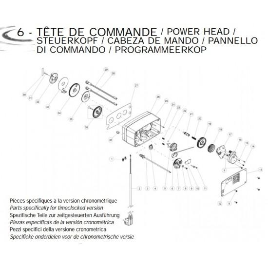 Câble de compteur retardé 8 m3 Ref 24544 pour vannes Fleck 4600/5600