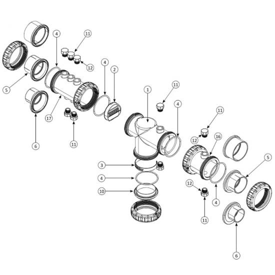 Vase nu simple Stérilor SEL (vide) EVO / XP (nouveau modèle > 2019) repère n°1