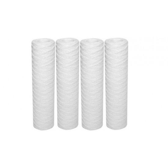 "Kit 4 Cartouches de filtration anti-boue jetable 9""3/4 bobinée 5 µ"