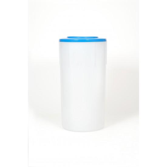 Bac à sel pour adoucisseur Bi-bloc avec couvercle 150 litres