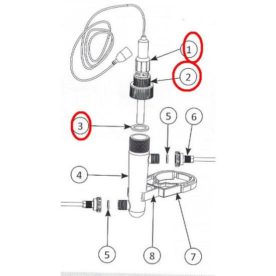 Raccord montage sonde Stérilor (repère 1)