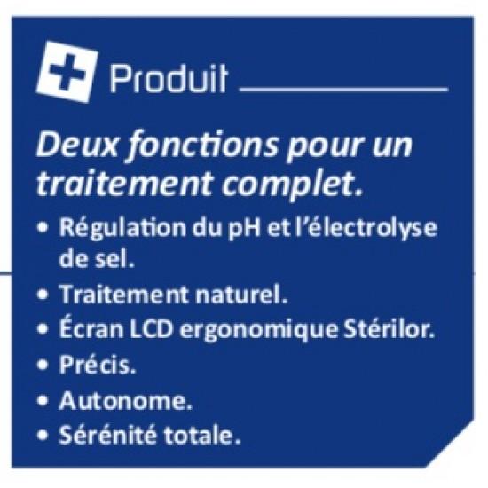 Electrolyseur EVO de sel - pH Stérilor DUO 80 - 2019 - Pour bassin de 60 à 80 m3