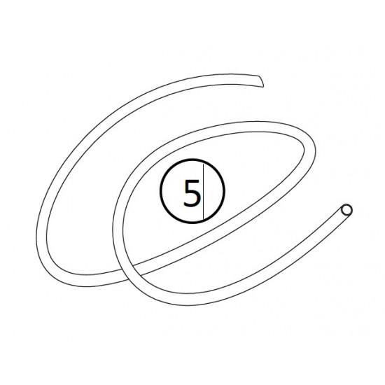 Tube refoulement semi-rigide Ø 4x6 Stérilor (le m)